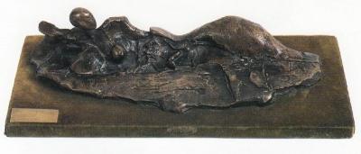 1979, Tájnő, bronz, kisplasztika