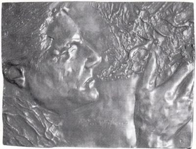 1982, Pilinszky János dombormű, bronz