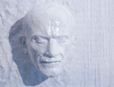 1982 Babits Mihály, mintázott maszk, gipsz