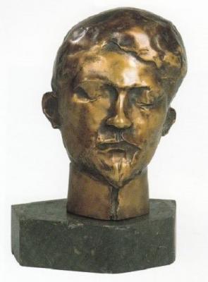 1982, Petőfi portré, bronz, márványtalapzattal