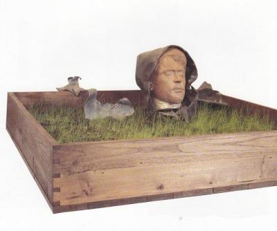 1983, Petőfi síremlék, terrakotta, ólom, fa