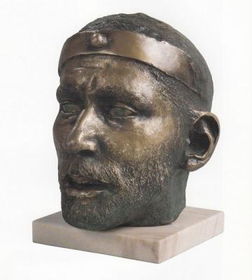 1984, Szent István portré, bronz, márványtalapzattal