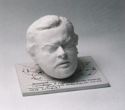 1985, Latinovits portré, porcelán