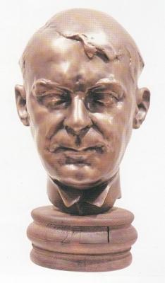 1985, Kosztolányi Dezső portré, bronz, márványtalapzattal