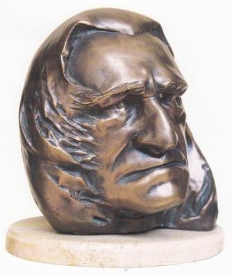 1995, Liszt Ferenc portré, márványtalapzattal