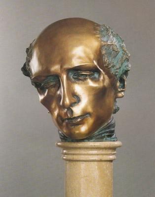1989, Kölcsey Ferenc, bronz, márványoszlopon
