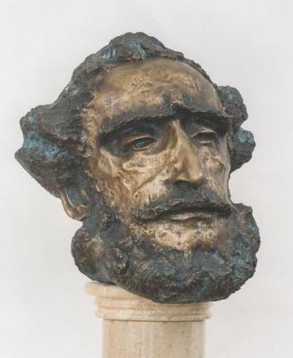 1991, Gróf Széchenyi István, bronz, oszlopos