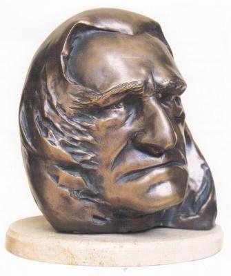 1995, Liszt Ferenc portré, bronz