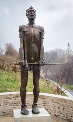 1990, Szent István egész alakos, bronz