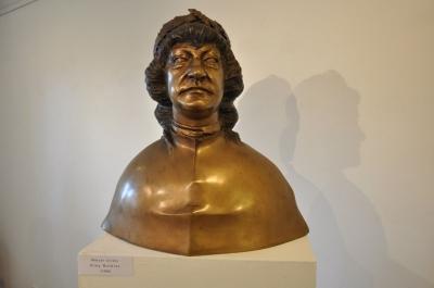 1988, Mátyás király mellszobor, bronz