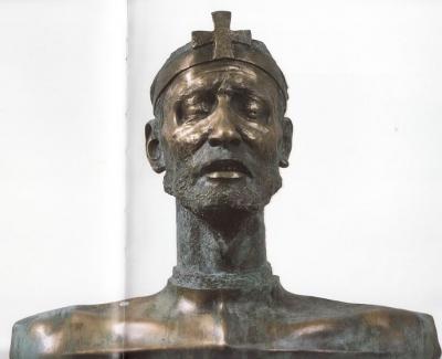 1988, Szent István I. oszlopos, bronz
