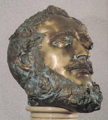 1991 Kossuth Lajos, bronz, márványoszlopos